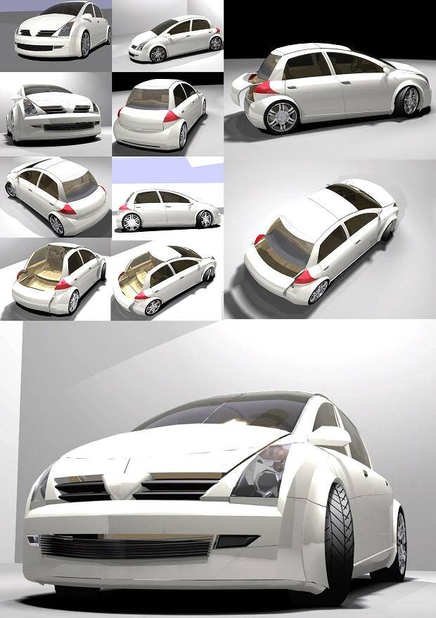 Design a new car concept called Ghazal